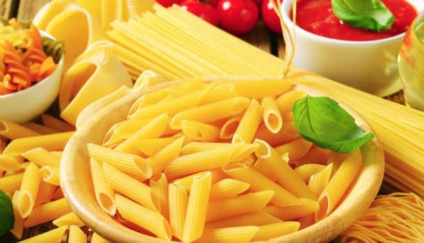 Assorted pasta and tomato puree